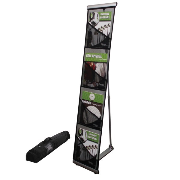 mesh 4 pocket brochure literature stand