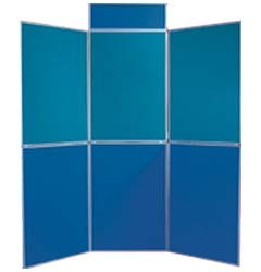 7'x7.5'ft-- 6 Panel Folding Foam Board Display