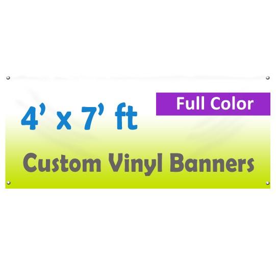 4x7ft Color Custom Printed Vinyl Banner