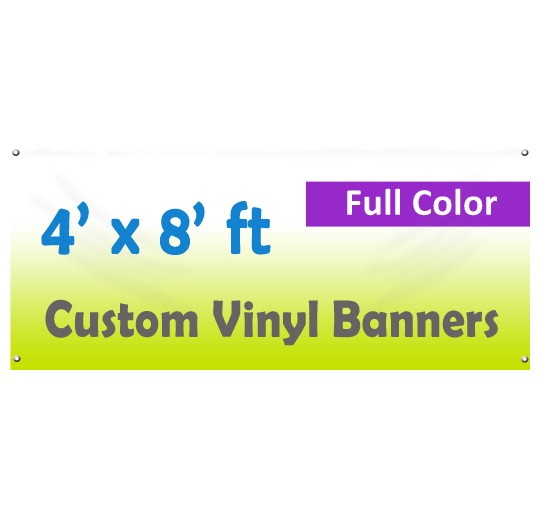 4x8ft Color Custom Printed Vinyl Banner