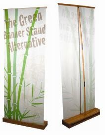 3'x7'ft Bamboo Eco-friendly Retractable Banner Display Stand