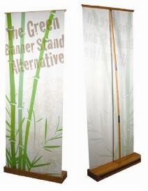bamboo retractable banner stand
