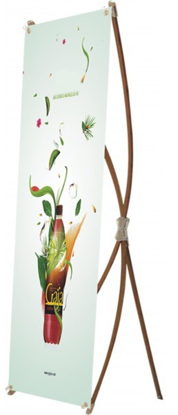 2'x5'ft Bamboo Eco-friendly X-Stand Banner Display 60x160cm