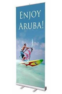 3.5x7ft Aluminum Pull-Up Retractable Standing Banner 108x200cm