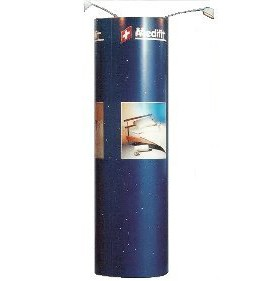 8'ft Product Window Tower Circle Cylinder Pop-up Display Stand
