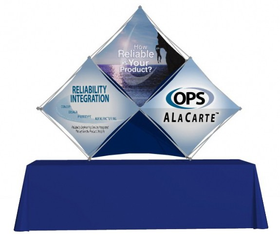 Diamond Lattice Snap Pop Up Backdrop Display Desktop 3.5