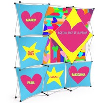 Diamond Lattice Snap Pop Up Backdrop Display 3x3