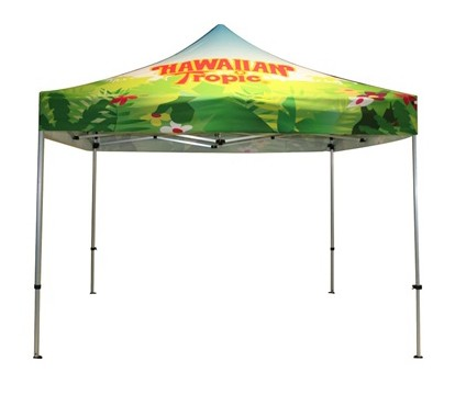 full color print dye sub canopy tent