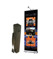 All in One Retractable banner kit with light and hard case