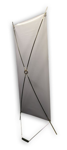 metal u base x banner stand