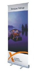 2.5x7ft Plastic Pull-Up Retractable Standing Banner 78x200cm