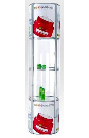 5-Tier Circle Twist Snap-up Product Display
