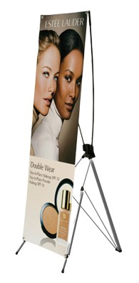 4x7ft Large Size Metal X-Stand Banner Display