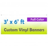 3x6ft Color Custom Printed Vinyl Banner