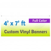 4x7ft Color Custom Printed Vinyl Banner