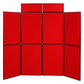 9'x7.5'ft-- 8 Panel Folding Foam Board Display