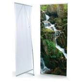 3'x7'ft-- Aluminum L-Stand Banner