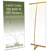2.5'x6'ft Bamboo Eco-friendly L-Stand Banner Display 80x180cm