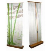 2.5'x7'ft Bamboo Eco-friendly Retractable Banner Display Stand