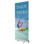 2x5ft Aluminum Pull-Up Retractable Standing Banner 58x160cm