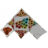Diamond Lattice Snap Pop Up Backdrop Display Triangle 3+3