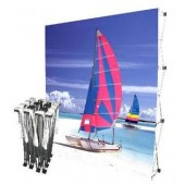 fabric pop up tradeshow backdrop display