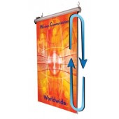 2.5x7ft Motorized Wall Mounted Rolling Banner Display 80x200cm