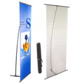 2'x5'ft-- Plastic L-Stand Banner