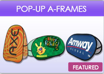 Trade Show Display–Pop Up A Frame