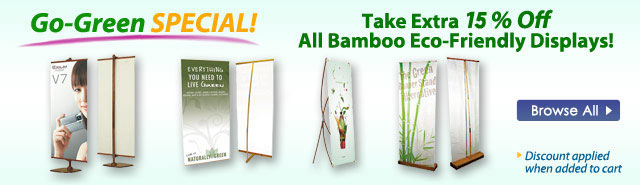 Eco Friendly Banner Display Stands